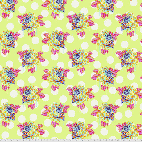 Tula Pink PWTP161 Curiouser & Curiouser Painted Roses Sugar Cotton Fabric By Yd