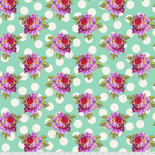 Tula Pink PWTP161 Curiouser & Curiouser Painted Roses Wonder Cotton Fabric By Yd