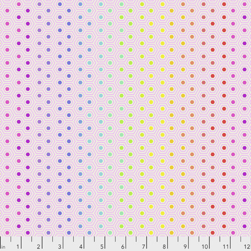 Tula Pink PWTP151 All Stars Hexie Rainbow Shell Cotton Fabric By Yard