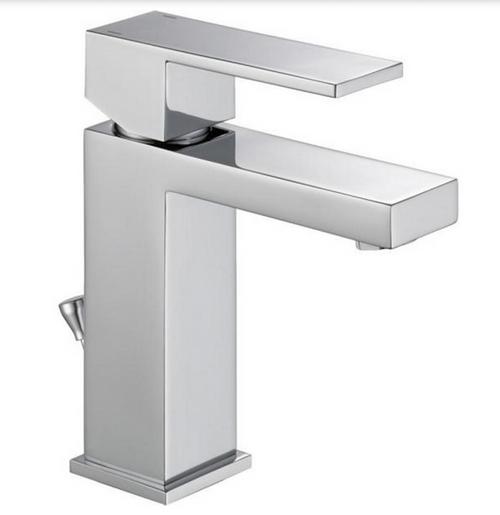 Delta 567LF-PP Single Hole Single Lever Modern Bath Vanity Faucet Chrome
