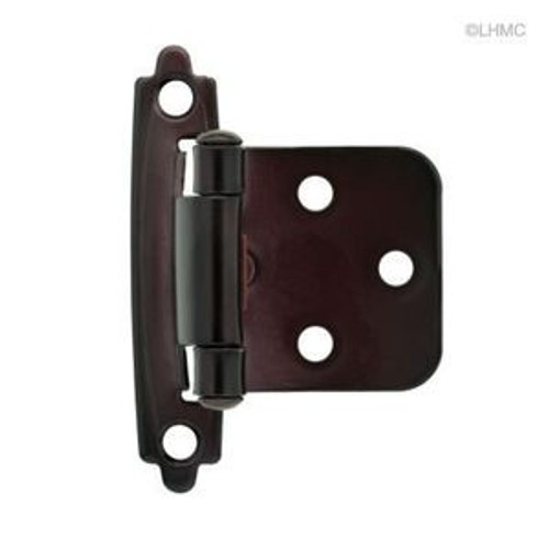 H0103BC-500-C Oil Rubbed Bronze Self Closing Overlay HInge 2 Pack