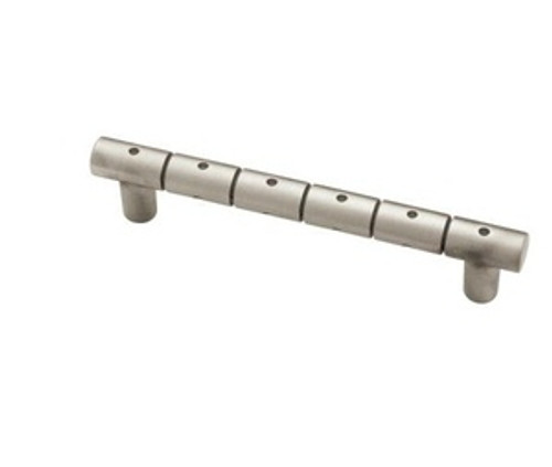 """PBF317Y-BSP 3 3/4""""  Ring Dot Brushed Satin Pewter Cabinet Drawer Pull"""