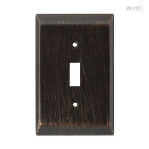 126408 Stately Venetian Bronze Single Switch Cover Plate