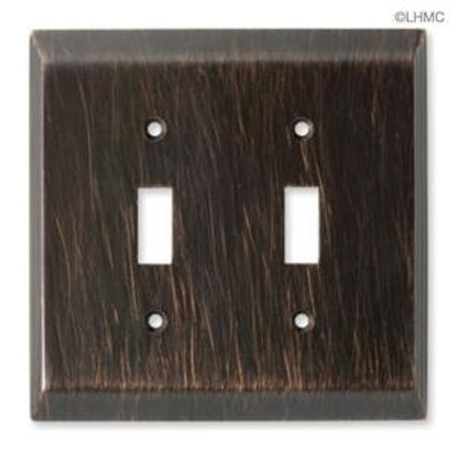 126409 Venetian Bronze Stately Double Switch Cover Wall Plate