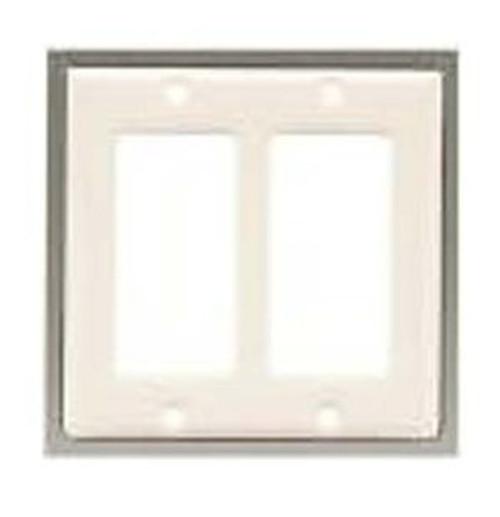 63999 Bisque Ceramic Double GFCI Cover Plate
