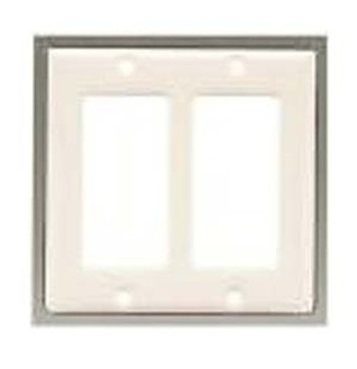 63999 Bisque Ceramic Double GFCI Cover Plate