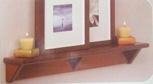 """085-03-3810 24"""" Modern Shelf Dk Caramel"""