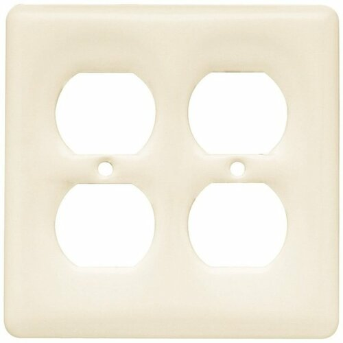 64478 Bisque Ceramic  Double Duplex Cover Plate