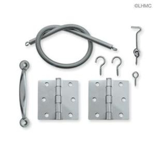 B12700G-ZP  Screen Door Hardware Set, Hinges, Pull, Spring, Hook