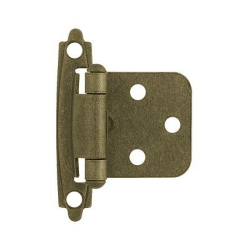 81465 Antique Brass Self Closing Overlay HInge 10 Pack