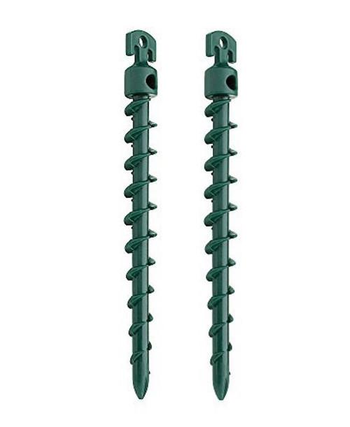 """Vortex Plastic 7 1/2"""" Spiral Anchor Green 4 Pack"""