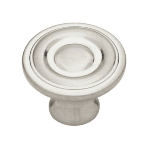 "085-03-0803 Satin Nickel 1 1/4"" Raised Ring Cabinet Drawer Knob 10 Pack"