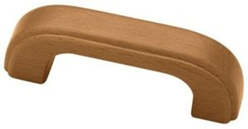"PZ2113C-221 3"" Wood Honey Maple Finish Cabinet Drawer Pull"