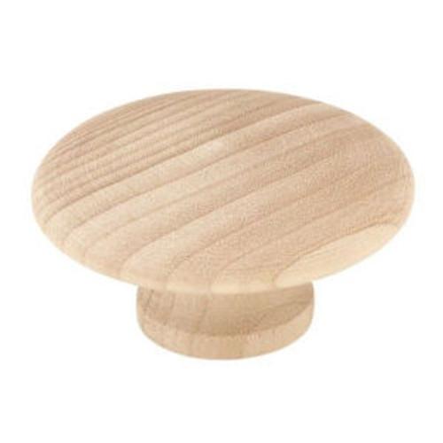 """P10515C-BIR  Birch Wood 2"""" Round Cabinet Drawer Knob LOT OF 10"""