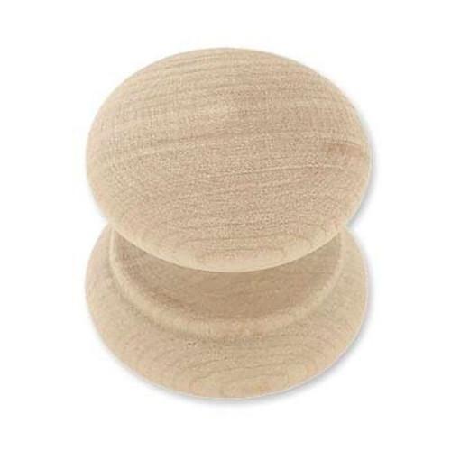 """P10519C-BIR  Birch Wood 1 1/4"""" Round Cabinet Drawer Knob"""