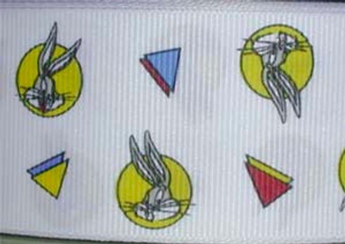 "Bugs Bunny 50 Yds  Looney Tunes Grosgrain Ribbon 1 1/2"" Wide"