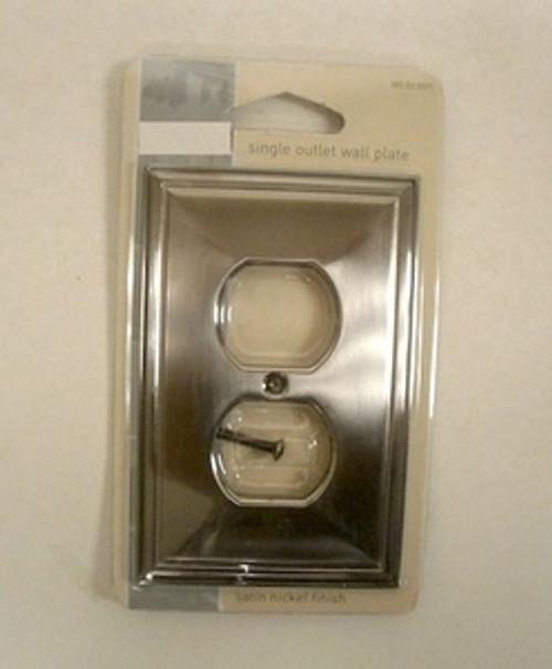 085-03-0527 Beverly Satin Nickel Single Duplex Cover Plate