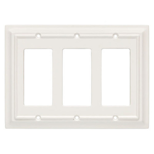 126337 White Architect Triple GFCI Decora Cover Plate