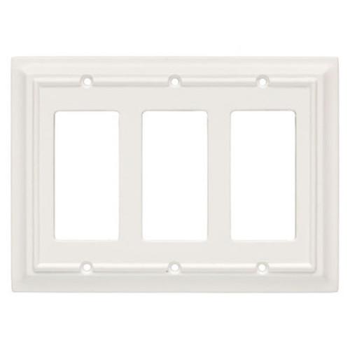 126337 White Architect Triple GFCI Decora Cover Plate