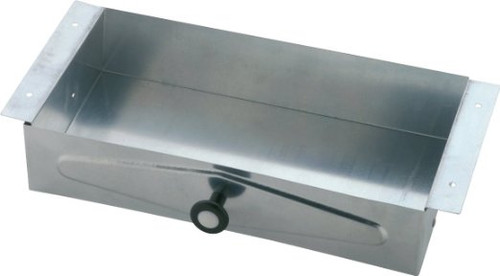 Commercial Delta 46090 Recessed Vanity Tissue Box Galvanized Steel