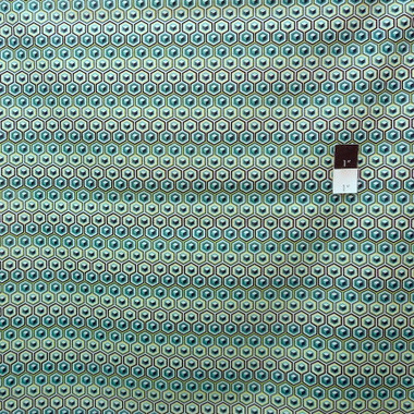 Tula Pink Prince Charming Aqua Hex Box VOILE fashion quilting fabric hard to find