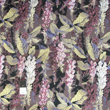 Philip Jacobs Pwpj010 Foxgloves Grey Cotton Fabric By The Yard