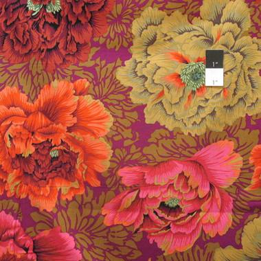 Philip Jacobs Pwpj062 Brocade Peony Autumn Cotton Quilting