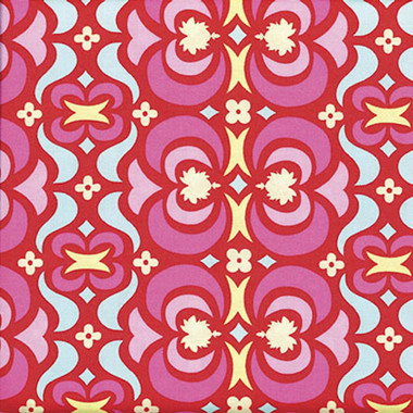 Amy Butler Ab23 Midwest Modern Garden Maze Red Cotton