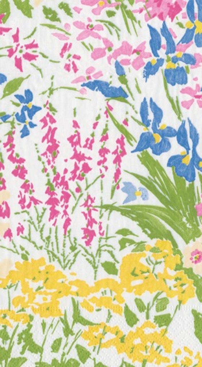 Meadow Flowers Guest Towel 4.5 x 8 Inch Pk 30
