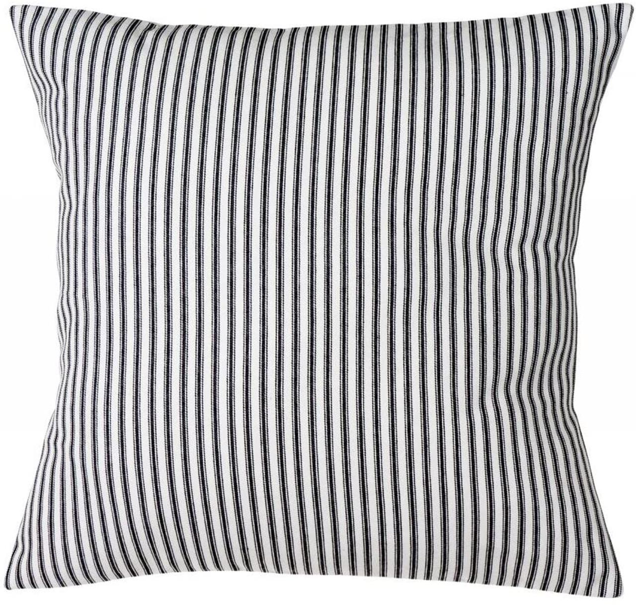 "Pillow Covers Pillow Shams Black and White Beach Pillows Decorative Throw Pillows 18"" Striped"