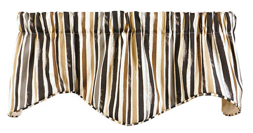 Striped Curtain Valances