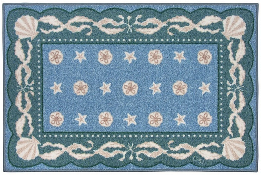 Blue Beach Rugs for Bathroom Rugs and Kitchen Rugs