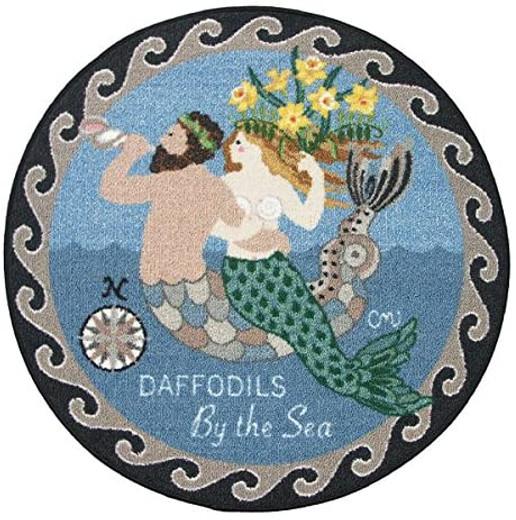 Mermaid Decor Round Rugs