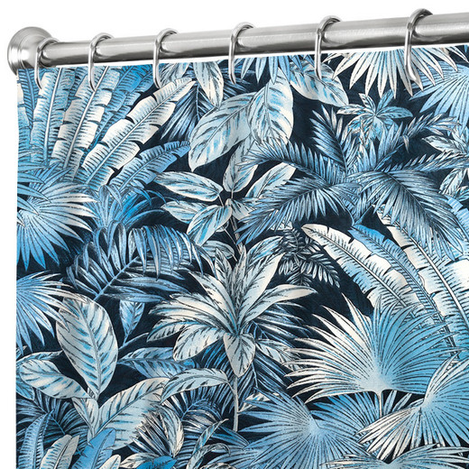 """84 Inch Extra Long Fabric Shower Curtain Tommy Bahama Turquoise Bahamian Breeze 72"""" x 84"""""""