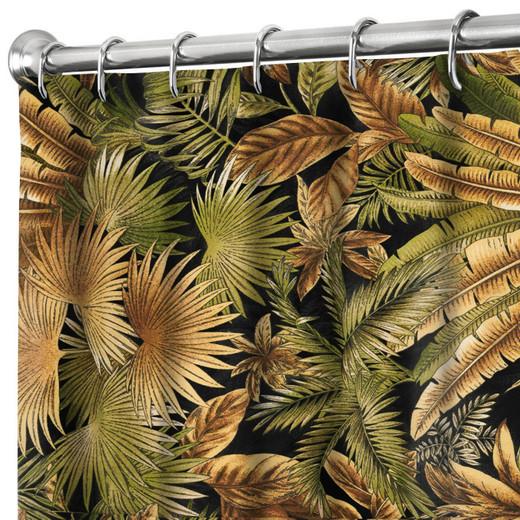"84 Inch Extra Long Fabric Shower Curtain Tommy Bahama Black Bahamian Breeze 72"" x 84"""