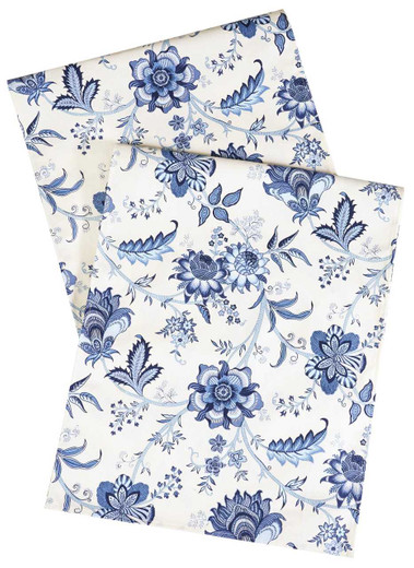 Floral Blue Table Runners
