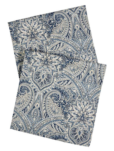 Paisley Blue Table Runners 72 Inch