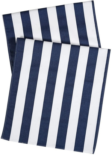 Striped Blue Table Runners