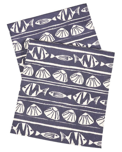 Navy Blue Beach Party Table Runners 72 Inch