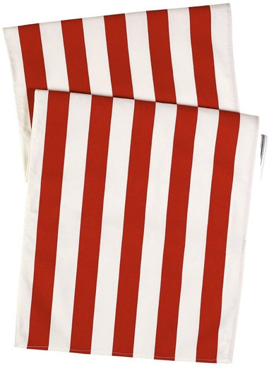 Striped Red Table Runners 72 Inch
