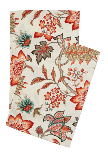 Peach and Red Table Runners