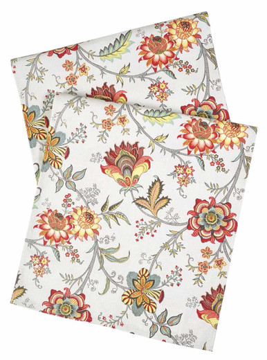 Antique Floral Red Table Runners
