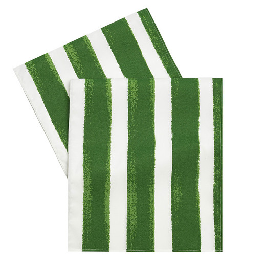 Green Striped Table Runner 72 Inch