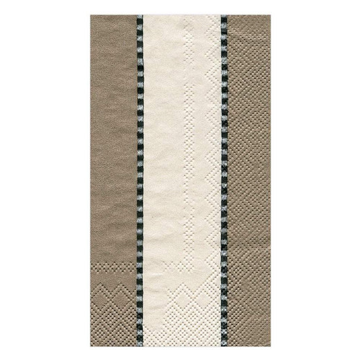 Paper Guest Towels Taupe Stripes - Chic party supplies & decorations. 2 paks, 15 towels per pak.