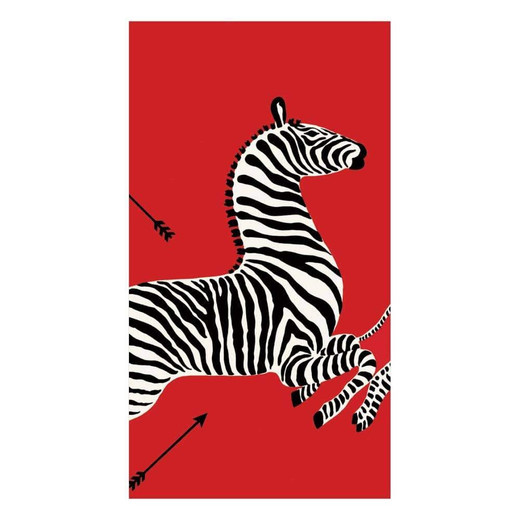 Hand Towels or Paper Guest Towels Party Supplies 30 Count Zebra Red