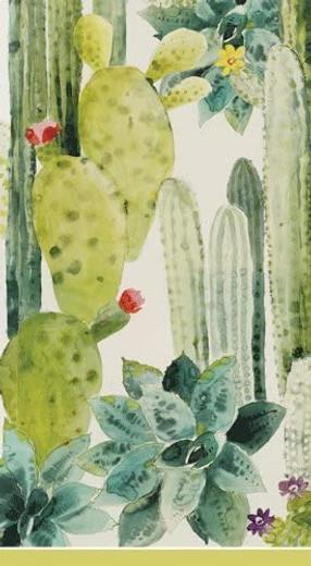 Pierre Frey Cactus Decor Paper Hand Towels