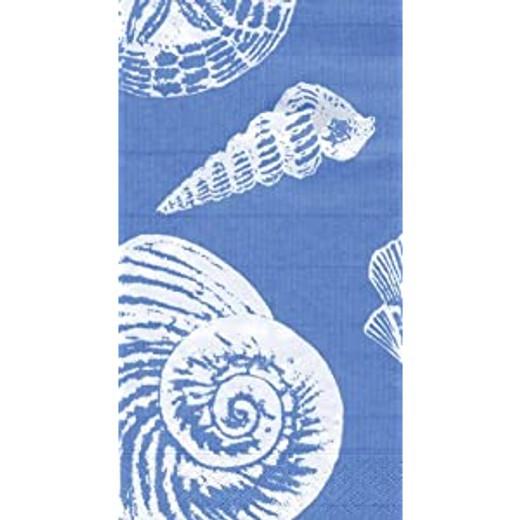 Paper Guest Towels Blue Shells - Chic party supplies & decorations. 2 paks, 15 towels per pak.