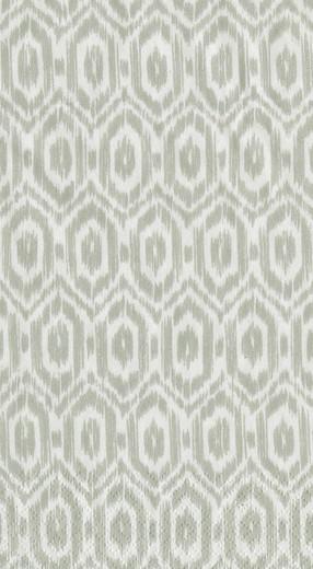 Disposable Hand Towels, Decorative Paper Guest Towels for Bathroom or Paper Napkins Dinner Napkins Size Amala Ikat Grey Pak 30