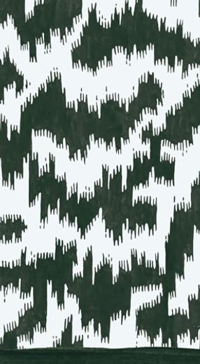 Modern Moire Black Guest Towel 4.5 x 8 Inch Pk 30