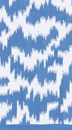 Modern Moire Blue Guest Towel 4.5 x 8 Inch Pk 30